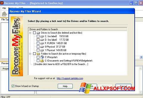 Skjermbilde Recover My Files Windows XP
