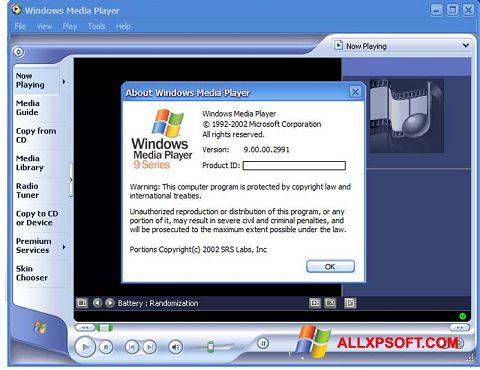 Skjermbilde Windows Media Player Windows XP