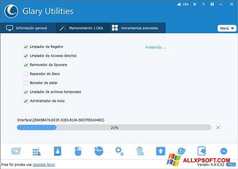 Skjermbilde Glary Utilities Windows XP