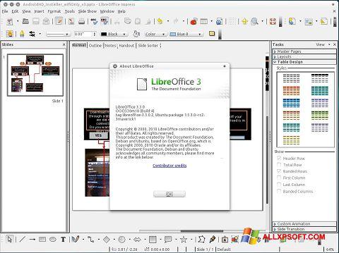 Skjermbilde LibreOffice Windows XP