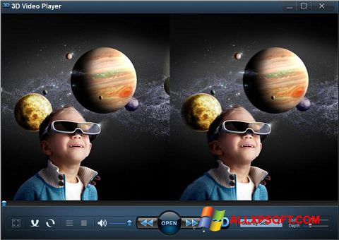 Skjermbilde 3D Video Player Windows XP