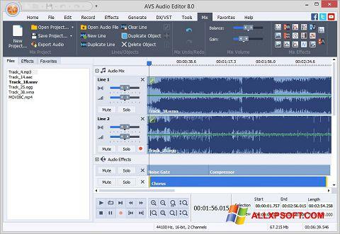 Skjermbilde AVS Audio Editor Windows XP