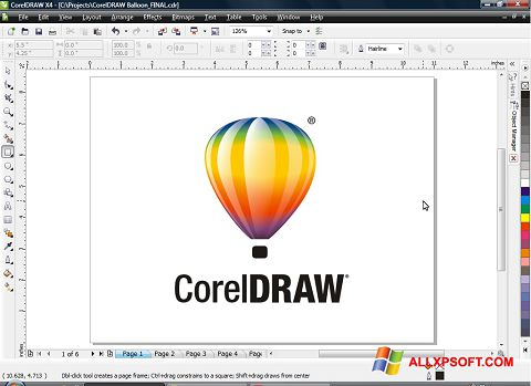 Skjermbilde CorelDRAW Windows XP