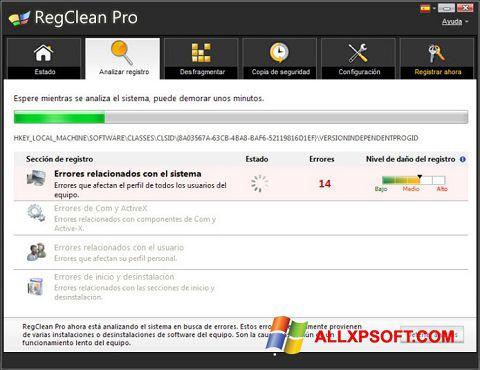Skjermbilde RegClean Pro Windows XP