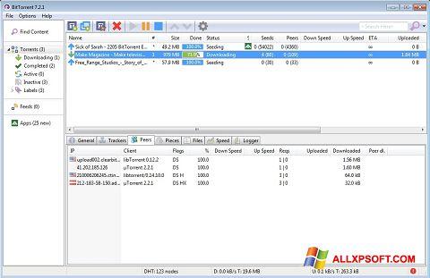 Skjermbilde BitTorrent Windows XP