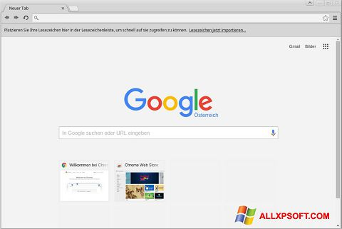 Skjermbilde Google Chrome Windows XP