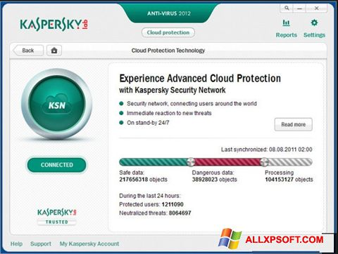 Skjermbilde Kaspersky Windows XP