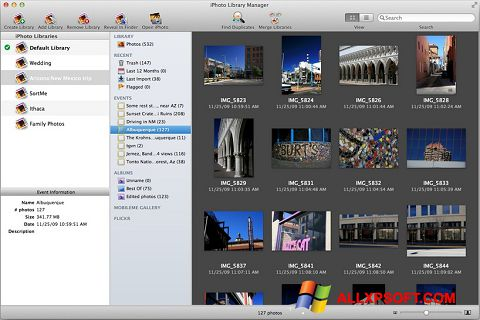 Skjermbilde iPhoto Windows XP
