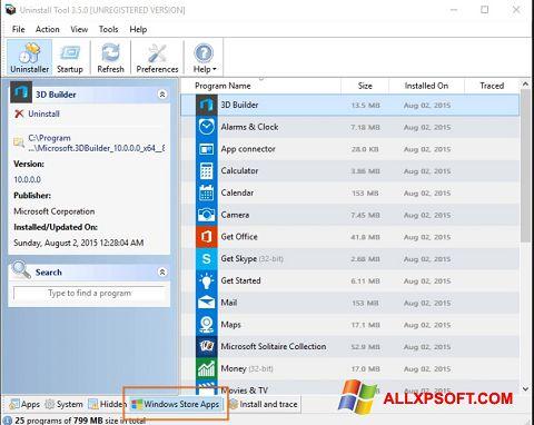 Skjermbilde Uninstall Tool Windows XP