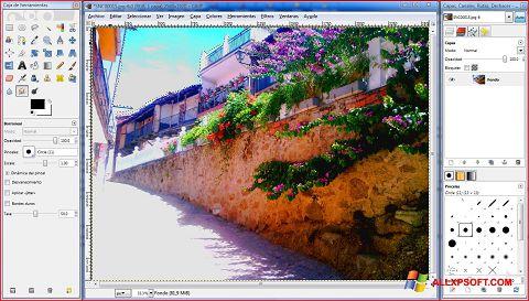 Skjermbilde GIMP Windows XP