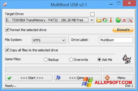 Skjermbilde Multi Boot USB Windows XP