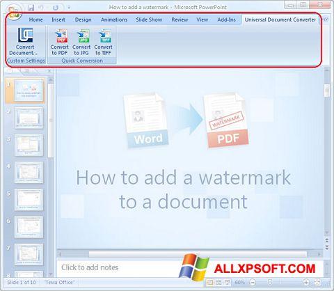 Skjermbilde Microsoft PowerPoint Windows XP
