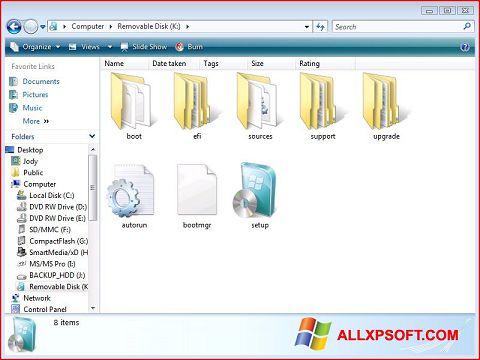 Skjermbilde Windows 7 USB DVD Download Tool Windows XP