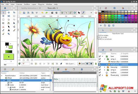 Skjermbilde Synfig Studio Windows XP