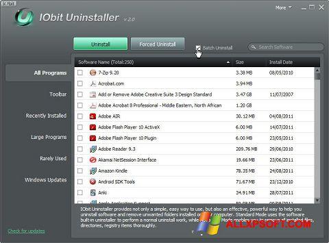 Skjermbilde IObit Uninstaller Windows XP