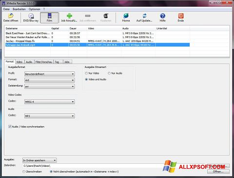 Skjermbilde XMedia Recode Windows XP
