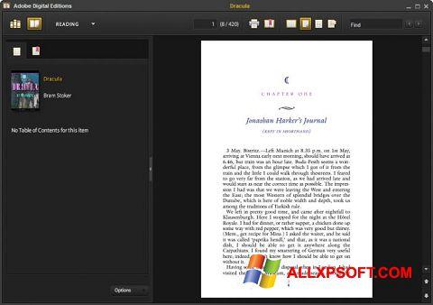 Skjermbilde Adobe Digital Editions Windows XP