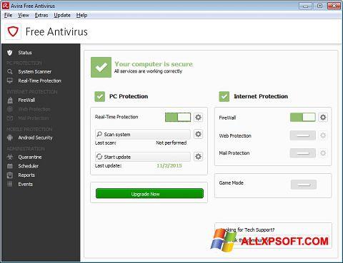 Skjermbilde Avira Free Antivirus Windows XP