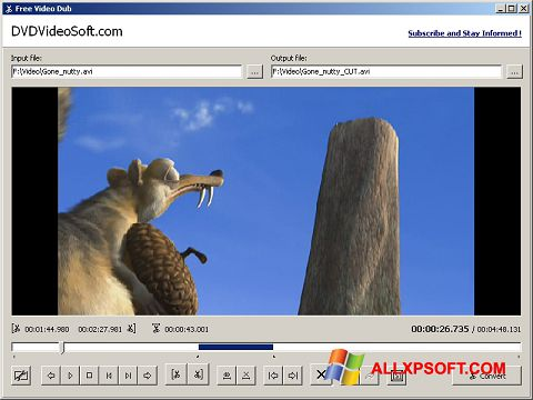 Skjermbilde Free Video Dub Windows XP