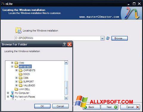 Skjermbilde nLite Windows XP
