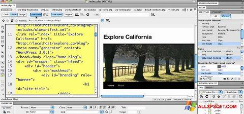 Skjermbilde Adobe Dreamweaver Windows XP