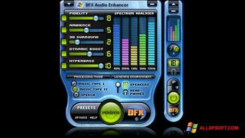 Skjermbilde DFX Audio Enhancer Windows XP