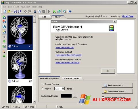 Skjermbilde Easy GIF Animator Windows XP