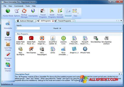 Skjermbilde Revo Uninstaller Pro Windows XP